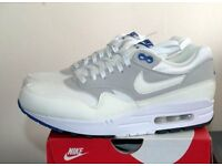 MENS NIKE AIR MAX 1 CX COLOUR CHANGE WHITE AND BLUE TRAINERS SIZE 9.5 BRAND NEW WITH BOX