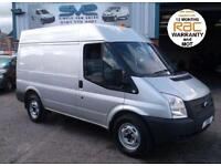 2012 12 FORD TRANSIT 330 SWB MED ROOF 125BHP 6 SPEED IN SILVER WITH FULL HISTORY