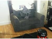 Grey chenille sofas