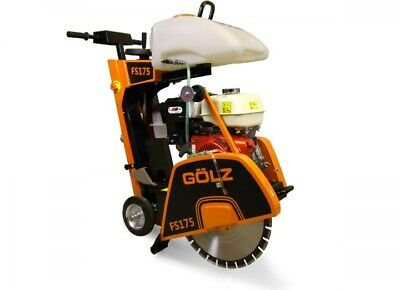 18 In Walk Behind Golz Fs175 Concrete Floor Saw 13 Hp Honda Gas Engine