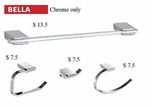 9 Choices of Bathroom Hardware 4 or 5 piece Sets - Chrome of Brushed Nickel - Starting at