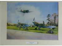 Aviation print of Late Return Spitfires by Bob Murray