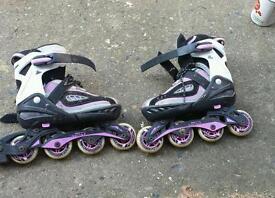 In line skates adjustable size 3 to 6
