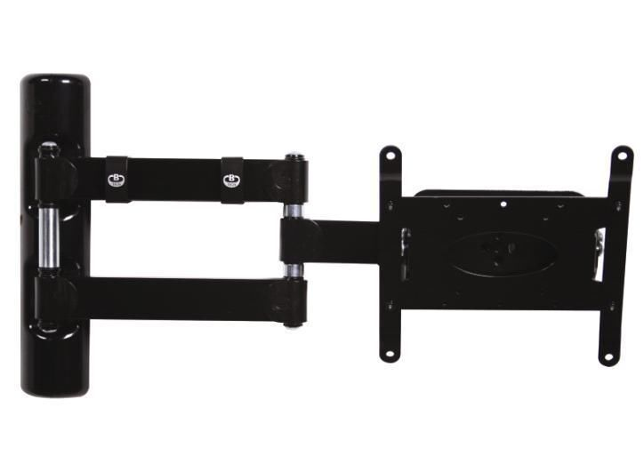 B-Tech Full Motion Double Arm Flat Screen Wall Mount