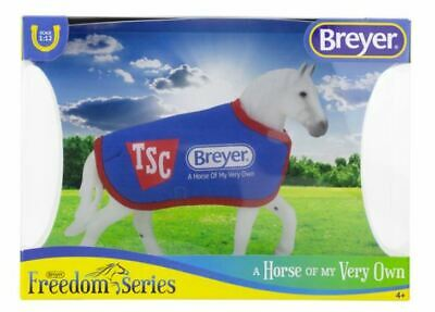 Breyer TSC exclusive Grey/white Drafter NIB Model Horse & TSC Blanket
