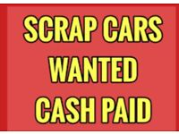 Scrap cars wanted