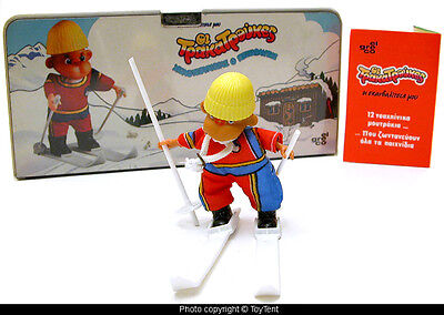 El Greco Tpaka Tpoukes ski monkey complete playset chalet made in Greece