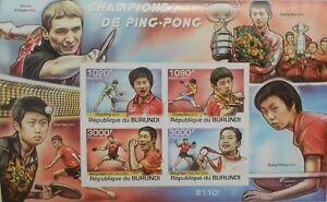 Table Tennis Masters China ping-pong Burundi 2011 s/s Sc.980 BUR11317b IMPERF - Olsztyn, Polska - Table Tennis Masters China ping-pong Burundi 2011 s/s Sc.980 BUR11317b IMPERF - Olsztyn, Polska