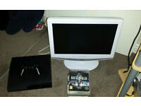 Sony PS3 with 7 games and 20 inch TV