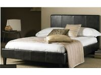 King size bed frame coffee brown color BRAND NEW