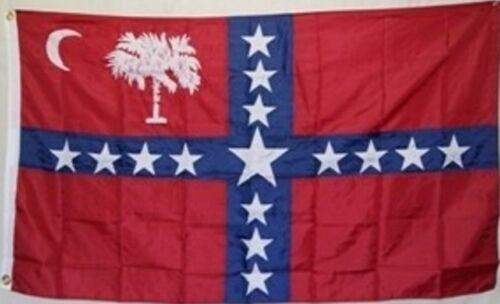 3x5 ft South Carolina Sovereignty CSA Secession Flag Civil War Print Polyester