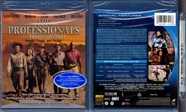 Blu-ray Burt Lancaster THE PROFESSIONALS Lee Marvin Jack Palance WS R1 OOP NEW