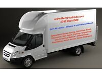 REMOVALS SERVICE MAN AND VAN DELIVERY 7.5 TONNE LUTON LORRY TRUCK WITH A MOVERS & MOVING DRIVER HIRE