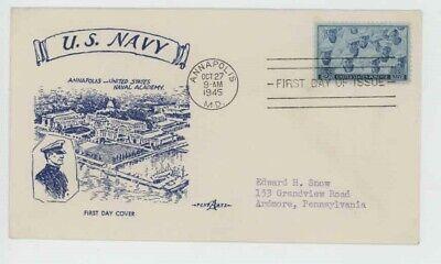 Mr Fancy Cancel WW II Patriotic US Navy Annapolis US Naval Academy '45 Cvr #524