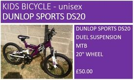 DUNLOP SPORTS UNISEX KIDS BICYCLE - Excellent condition