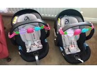 Twin cybex aton gold isofix car seat bundle