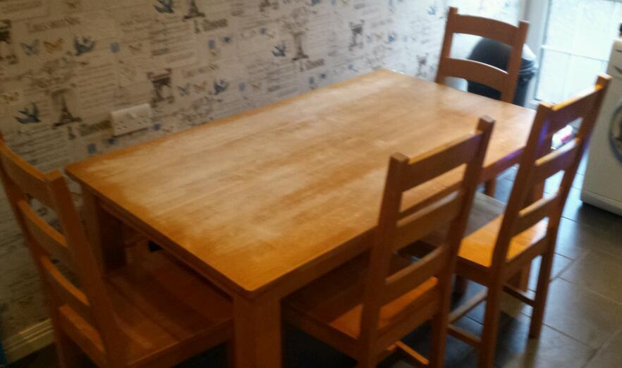 sold 6 seater solid pine dining table 4 chairs sold in