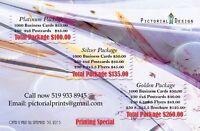 Business cards, Postcards, Flyers, Brochures printing