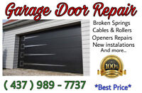 Garage Door Repair 437-989-7737 ☆☆☆☆☆ Same Day Service!◇