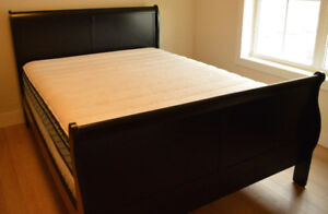 Queen Size bed with Sealy mattress and box spring