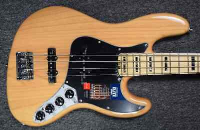 Fender American Elite Jazz Bass (4-String), Natural Ash with Maple Fingerboard