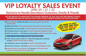 HONDA DOWNTOWN SPRING SALE