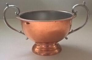 Vintage Flemish Copper B.P.CO Canada Small Pedestal Bowl