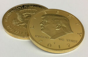 Donald Trump 2017 Inaugural 24kt Gold Plated Commemorative Coin