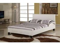 💚💚!SUPER SALE!💚💚BRAND NEW! DOUBLE LEATHER BED FRAME / MATTRESS OPTION