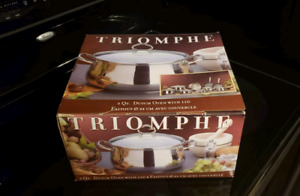 Dutch Oven 5 Qt with Lid, Stainless Steel by Triomphe.