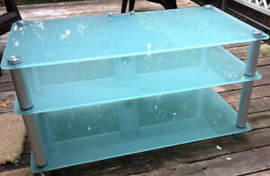 Sturdy Glass Entertainment Table Peterborough Peterborough Area image 1
