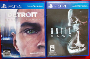 Selling PS4 games: Detroit and Until Dawn