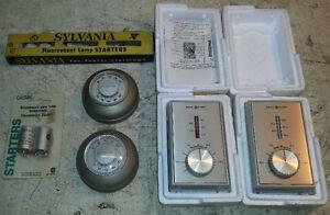 Vintage furnace thermostats + fluorescent lamp starters West Island Greater Montréal image 1