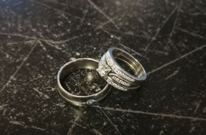 Reduced! Engagement & Wedding rings (Man's+Woman's)