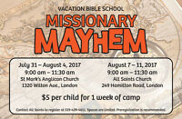 Vacation Bible School  - Summer Camp - Missionary Mayhem