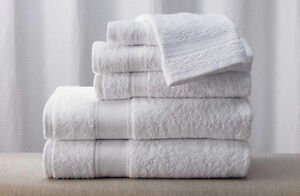 Hotel style White bath towels,hand towels,face towels,floor mats