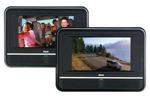 Twin portable DVD players  RCA. Play 2 different DVD in car,home