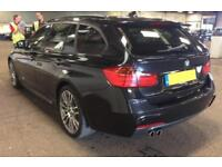 2015 BLACK BMW 330D TOURING 3.0 XDRIVE M SPORT DIESEL AUTO CAR FINANCE FR 67 PW