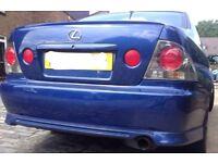 Lexus is200 blue 8n8 rear bumper + lip skirt 98-05 breaking spare is 200 is300 TTE TRD AERO KIT