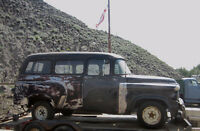 1961 Dodge Town Wagon 1/2 ton Project on 1988 frame
