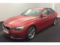 2016 RED BMW 320D 2.0 EFD SPORT DIESEL AUTO SALOON CAR FINANCE FR 62 PW