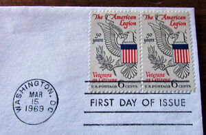 1969 American Legion 50th Anniversary 6 Cent First Day Cover Kitchener / Waterloo Kitchener Area image 4