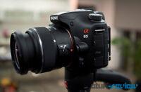 Sony A65 24.3mp like New 2372 actu GPS 10fps 50mm f1.7 lens Box