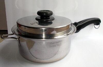 Saladmaster 3 Quart Saucepan Lid 316ti Titanium Stainless Steel Waterless USA for sale  Kyle