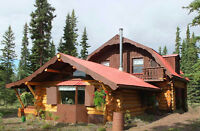Wilderness Log Home/Lodge on 5 Acres