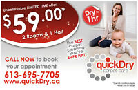 $59 ( Unlimited Square-Footage!!! ) Ottawa Carpet Cleaning