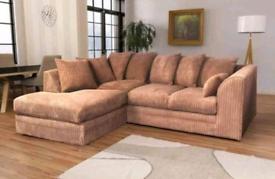 Brand New Jumbo Cord Corner Sofa
