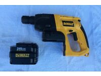 DEWALT 24VOLT SDS CORDLESS DRILL FOR SALE , WITH BATTERY, CHARGER MISSING , PICK UP MY HOME ADDRESS,