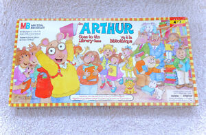Vintage Arthur Goes To The Library Board Game COMPLETE MB 1996