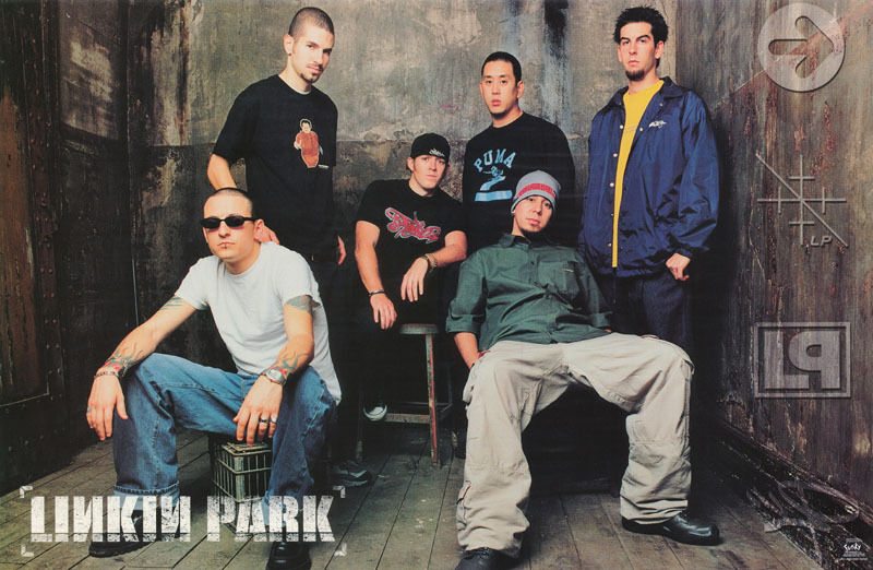 POSTER : MUSIC : LINKIN PARK - GROUP POSE -  FREE SHIPPING ! #6559  LBW1 X